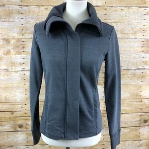 Banana Republic Gray Full Zip Jacket Sz S